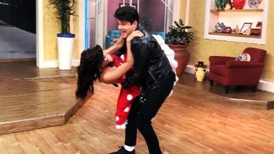 Detrás de cámaras: Alan casi deja caer a Francisca mientras la cargaba bailando