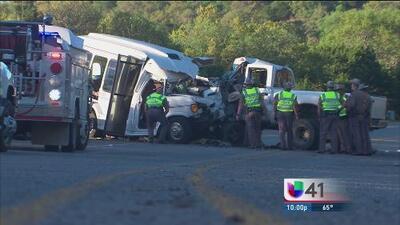 13 personas de la tercera edad murieron tras un aparatoso accidente que se registró en el suroeste de San Antonio