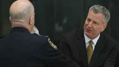 El alcalde Bill de Blasio pidió una pausa a las protestas hasta que pasen los funerales
