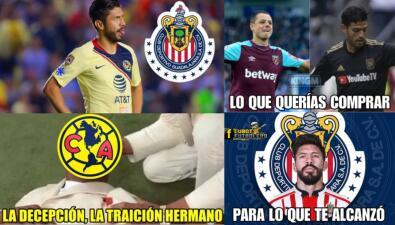 Los memes 'hermosos' del paso de Oribe Peralta de América a Chivas de Guadalajara