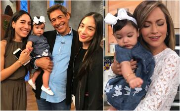 En fotos: todos querían abrazar a Amaia, la nieta de Johnny Lozada