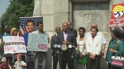 Legisladores piden que sean removidas placas y estatuas de líderes confederados en base militar de Brooklyn