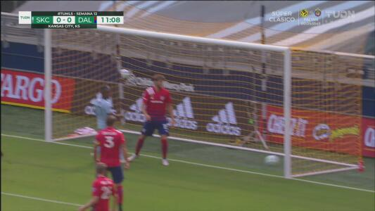 ¡El poste le quita el gol a Gerso Fernandes! Intentó cruzar el balón y se quedó cerca de anotar
