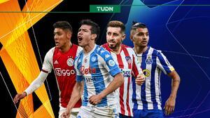 Los momentos de los mexicanos en Europa League y Champions