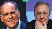 """Tebas ataca a Florentino: """"Miente porque destruye al futbol"""""""