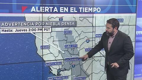 Emiten advertencia por niebla densa en el valle norte de California