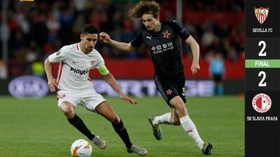 Sevilla y Slavia Praga definirán todo en la vuelta