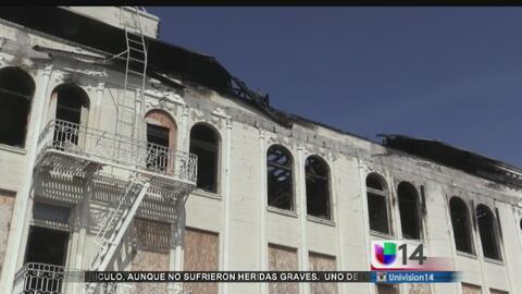 Edificio se incendia por segunda vez