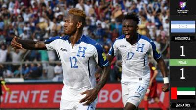 Honduras empató a un gol contra Emiratos Árabes en amistoso jugado en Barcelona