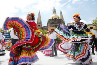 """""""Sí se pudo"""": México bate el récord del mundo de la mayor danza folclórica (fotos)"""