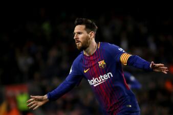 En fotos: Barcelona de récord con triplete de Messi