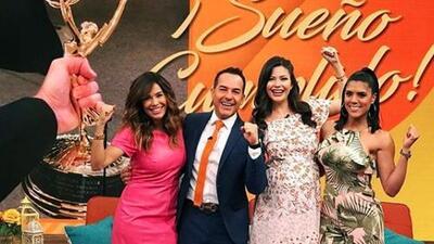 Con porras, brincos y aplausos: así Despierta América celebró su Emmy