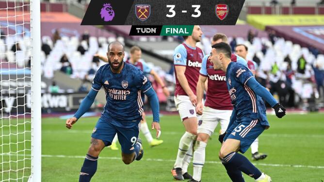 ¡De locos! Arsenal se repone de un 3-0 en contra ante West Ham