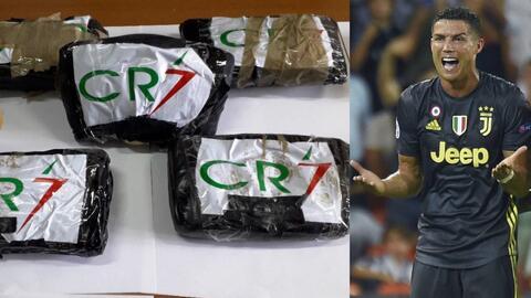 Policía de Nápoles incauta 14 kg de cocaína con la inscripción de 'CR7'