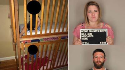 """""""Enjaulados como perros"""": rescatan a 2 niños de una casa en California donde había un laboratorio de drogas"""