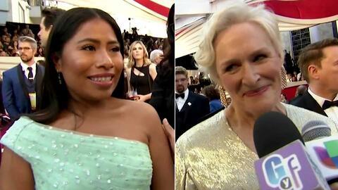 Glenn Close le dedicó unas bellas palabras a Yalitza Aparicio en la alfombra de los premios Oscar