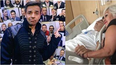 """Eugenio Derbez visitó a Adrián Uribe en cuidados intensivos: """"Sí, está delicado"""""""