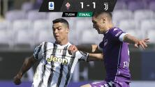 Juventus apenas rescata empate ante la Fiorentina y se aleja del Scudetto