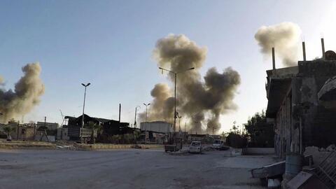 Ataque con misiles deja al menos 14 muertos en aeropuerto militar de Siria