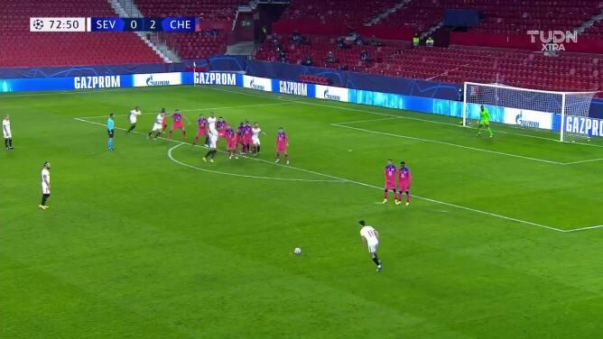 ¡Hat-trick de Giroud! Chelsea está aplastando al Sevilla