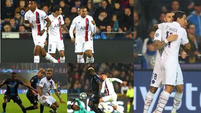 Con Mbappé perfecto, el PSG golea de vista al Club Brugge