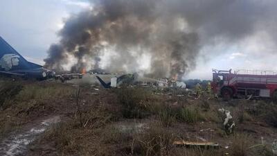 En un minuto: Ninguna víctima mortal en el accidente de avión de Aeroméxico en Durango