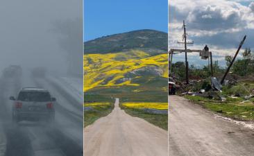 En fotos: la poderosa tormenta primavera que nunca llegó a California… pero sí a otros estados