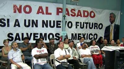 Así fue la celebración de mexicanos en Los Ángeles tras el triunfo de Andrés Manuel López Obrador
