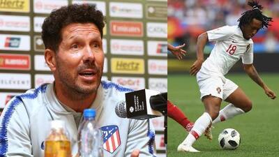 Simeone llenó de elogios a Gelson Martins, mundialista y nuevo refuerzo del Atlético de Madrid