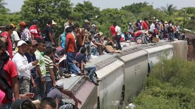 A bordo de 'La Bestia', cientos de migrantes centroamericanos llegan a Mexicali con la ilusión de cruzar a EEUU