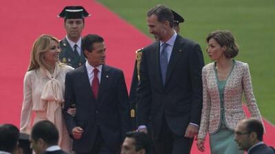 Enrique Peña Nieto recibió a los reyes de España por todo lo alto