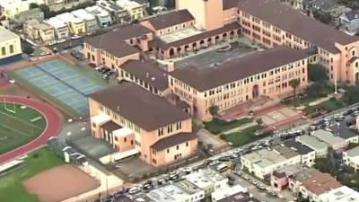 Heavy police presence at Balboa High School