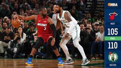 Celtics vencen al Heat y arruinan la última visita de Wade a Boston