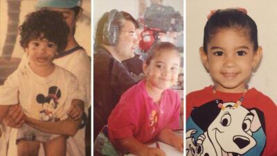 Risueña y con el cabello rizado: Mafer Alonso cuando era niña