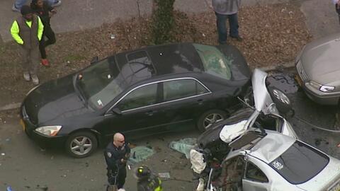 Un muerto y dos heridos es el saldo de un aparatoso accidente de la zona de East Flatbush, en Brooklyn