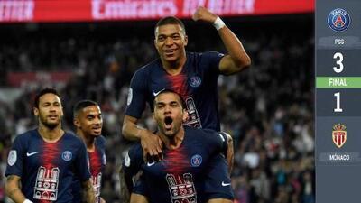 Qué crack: Mbappé se exhibe con un 'hat-trick' y el PSG celebra el campeonato en Francia