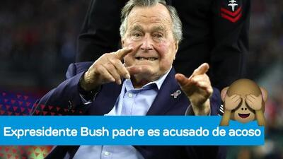El expresidente George Bush padre, en el ojo del huracán por acusaciones de acoso sexual