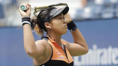 Naomi Osaka sufre en su debut en el US Open