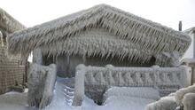 Una ciudad al norte de Nueva York se congeló y parece algo de una película