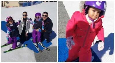Las hijas de Jacky Bracamontes ya se preparan para ser expertas en los deportes sobre hielo