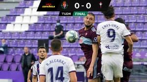 Celta, con Néstor Araujo todo el partido, empató ante Valladolid