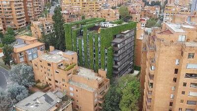 Bogotá tiene el jardín vertical más alto de América Latina