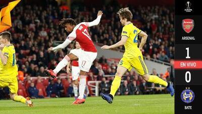 EN VIVO | Arsenal ya le gana al BATE con un gol desde el vestidor y empata la serie