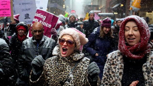 Multitudinaria participación en la Marcha de las Mujeres celebrada en Nueva York