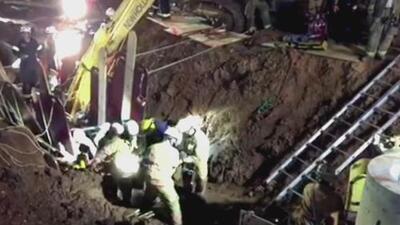 Dramático rescate en Maryland de un obrero sepultado hasta la cabeza