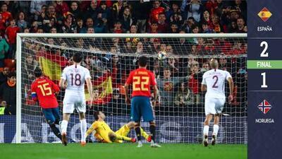 Con sufrimiento, pero España vence a Noruega en el inicio de la eliminatoria rumbo a la Euro