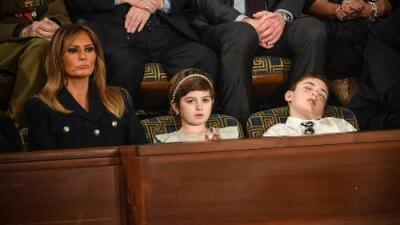 Quisieron usar al pequeño Joshua Trump con fines políticos y él simplemente se durmió