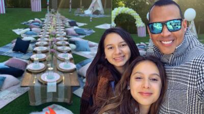 Alex Rodríguez celebra el cumpleaños de su hija menor con una divertida fiesta en el jardín