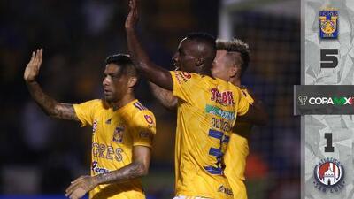 Tigres 5-1 Atlético San Luis - RESUMEN Y GOLES - Jornada 4 Apertura 2018 Copa MX