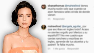 Critican a Ángela Aguilar por escribir en inglés y ella les responde